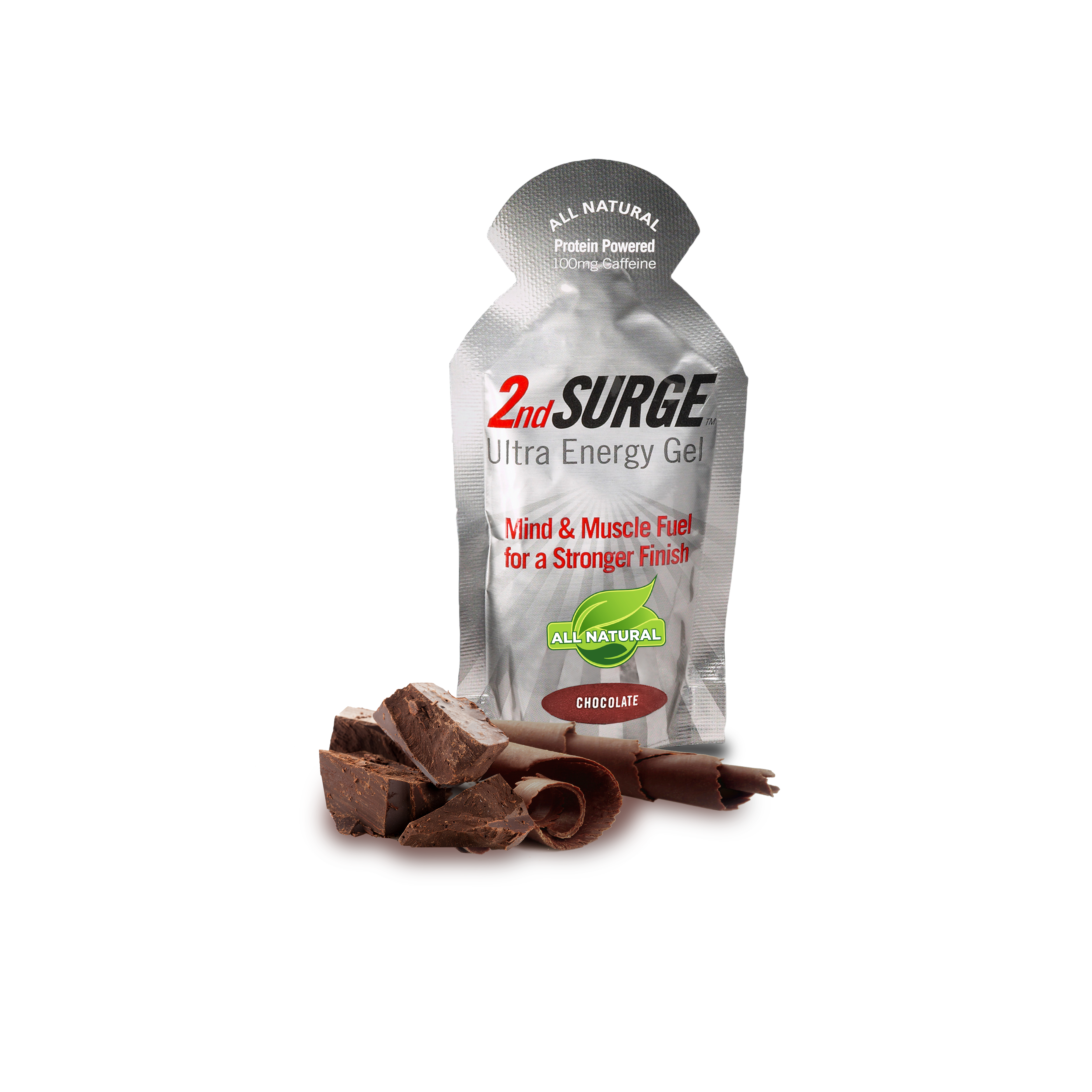 2nd Surge All Natural Energy Gel With 100 Mg Of Caffeine